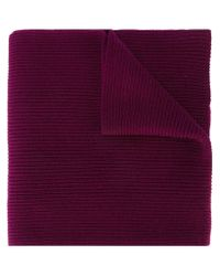 Polo Ralph Lauren - Purple Ribbed Knit Scarf for Men - Lyst