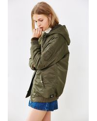 Obey - Green Ace Hooded Parka Jacket - Lyst