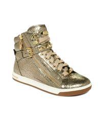 Michael Kors | Metallic Mk City Sneaker | Lyst