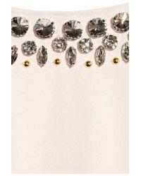 By Malene Birger White Livisa Embellished Crepe Dress