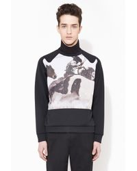3.1 Phillip Lim - Black Pullover With Western Raglan Sleeves for Men - Lyst