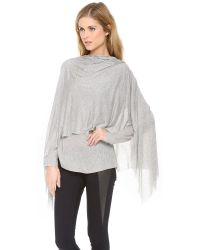 Cut25 by Yigal Azrouël | Gray Draped Layer Modal Top | Lyst