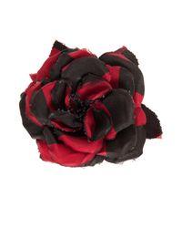 Alessandra Rich - Multicolor Silk Flower Pin - Lyst