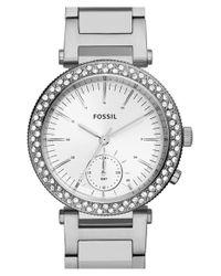 Fossil - Metallic 'urban' Crystal Bezel Bracelet Watch - Lyst