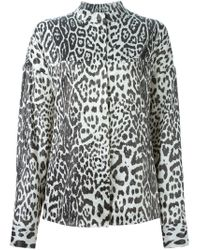 Haider Ackermann - Black Leopard Print Shirt - Lyst