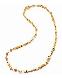 Eddie Borgo | Metallic Plinth Mixed-stone Long Necklace | Lyst