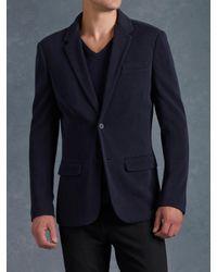 John Varvatos Blue Notch Lapel Sweater Jacket for men