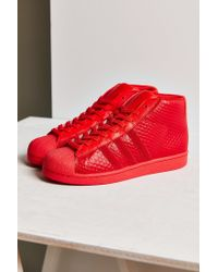 Adidas Red Mono Pro Model Sneaker