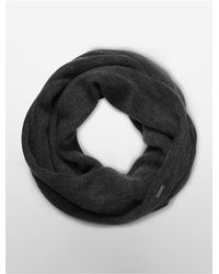 Calvin Klein | Black White Label Infinity Scarf | Lyst