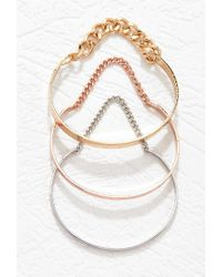 Forever 21 | Metallic Chained Cuff Set | Lyst