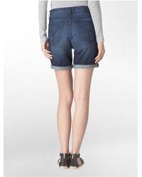 Calvin Klein   Blue Jeans Dark Wash Bermuda Shorts   Lyst