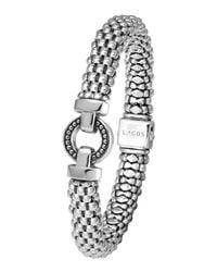 Lagos - Gray Enso Silver Caviar Rope Bracelet - Lyst