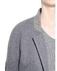 Haider Ackermann Gray Wool Blend Jersey Coat