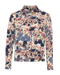 W118 by Walter Baker - Blue Layla Printed Cady Shirt - Lyst