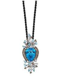 Le Vian | Blue Topaz (18-9/10 Ct. White Topaz (7/8 Ct. T.W.) And Smokey Quartz (1/5 Ct. T.W.) Pendant In 14K White Gold | Lyst