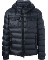 Moncler Blue Edward Padded Jacket for men