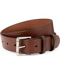 Ralph Lauren | Gray David Leather Belt - For Men for Men | Lyst