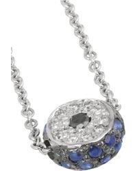 Ileana Makri - Metallic Leda 18-Karat White Gold, Diamond And Sapphire Necklace - Lyst