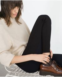 Zara | Blue Body Shaping Leggings | Lyst