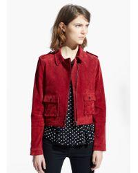 Mango Red Suede Jacket