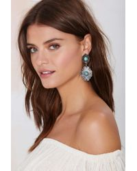Nasty Gal | Blue High Plains Concho Earrings | Lyst
