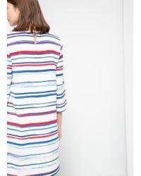 Mango - White Printed Shift Dress - Lyst
