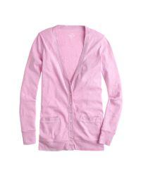 J.Crew - Purple Perfect-fit Mixed-tape Cardigan Sweater - Lyst