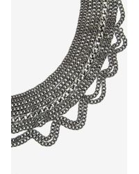 Nasty Gal - Metallic Chain Game Collar Necklace - Lyst