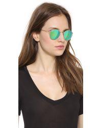 Ray-Ban Blue Mirrrored Polarized Icons Sunglasses Matte Goldorange Mirror Polar
