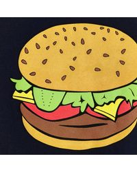 River Island - Blue Navy Burger Print Sweatshirt for Men - Lyst