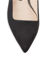 French Connection | Black Geneveve Suede And Leather Point Toe Flats | Lyst