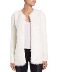 Kensie | White Faux Fur Jacket | Lyst
