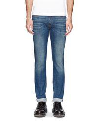 Acne Studios - Blue 'ace' Stretch Cotton Jeans for Men - Lyst