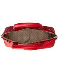 DKNY - Red Bryant Park - Saffiano Medium North-south Round Satchel W/ Detachable Shoulder Strap - Lyst