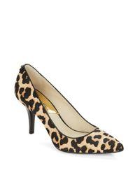 MICHAEL Michael Kors | Natural Flex Leopard-print Calf Hair Mid-pumps | Lyst