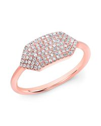 Anne Sisteron | Metallic 14kt Rose Gold Diamond Buckle Ring | Lyst