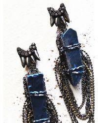 Free People Blue Deepa Gurnani Womens Ashlyn Statement Dangle Earring
