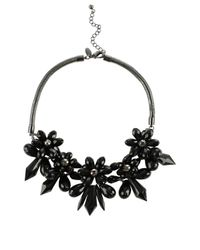 Coast | Black Floral Necklace | Lyst