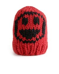 Wool And The Gang | Red Smiley Beanie | Lyst