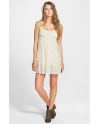 Rip Curl | Natural 'Dreamweave' Babydoll Dress | Lyst