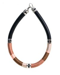 Lizzie Fortunato | Black Double Take Necklace In Sand | Lyst