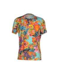 Versace Jeans - Orange T-shirt for Men - Lyst