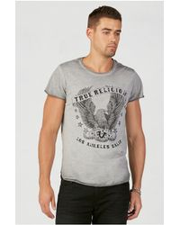 True Religion | Gray Eagle Print Mens T-shirt for Men | Lyst