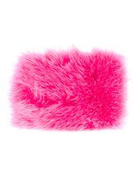 Fendi | Pink Fur Cuff | Lyst