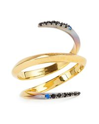 Katie Rowland - Metallic Twisted Dip-dye Ring - Lyst