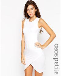 ASOS | Red Asymmetric Sleeveless Bodycon Dress | Lyst