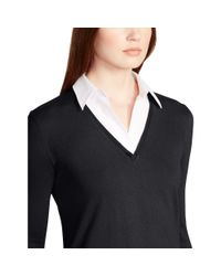 Ralph Lauren | Black Layered V-neck Sweater | Lyst