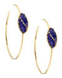 Lana Jewelry - Blue 14k Abra Magic Lapis Hoop Earrings - Lyst