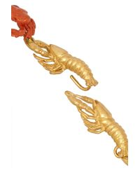 Virzi+de Luca - Metallic Gold-Plated And Enamel Lobster Necklace - Lyst