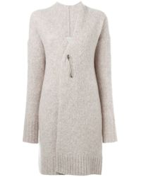Forte Forte - Natural Safety Pin Fastening Cardi-coat - Lyst